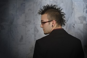 Profile Of Man With A Mohawk
