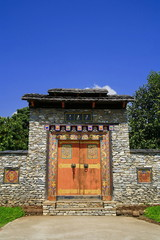 Arched entrance Bhutan style