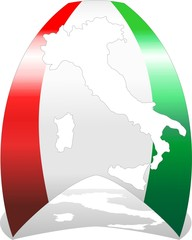 Italia 150° Nastro Tricolore-Italy Flag and Map-Vector