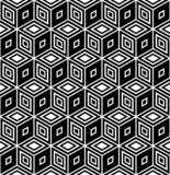 Op art design. Seamless geometric rhombuses pattern. poster