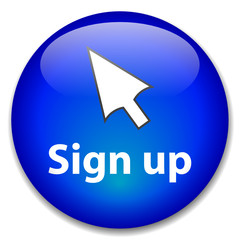 SIGN UP Web Button (subscribe register join new account user ok)