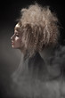 Smoky photo of a woman with gorgeous hair