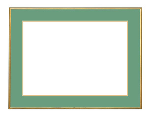 Picture frame in gold leaf  isolated