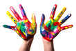 zwei bunte Hände V1