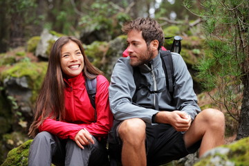 Couple hiking in nature