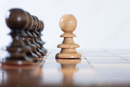 chess figure on board