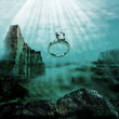 Sinking diamond ring