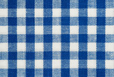 blue and white check cotton tablecloth fabric