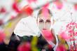 Artistic portrait of japan geisha woman with creative make-up ne
