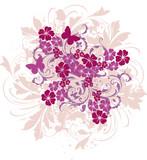 floral vintage frise poster