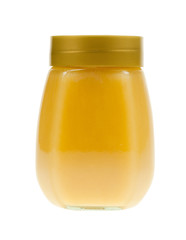 A jar of honey isolated