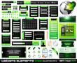 Web design elements extreme collection BlackGreen
