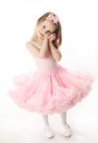 Fototapety Pretty preschool ballerina