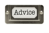 Advice File Drawer Label poster
