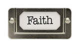 Faith File Drawer Label poster