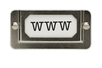 www File Drawer Label