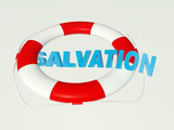 Salvation text in circle