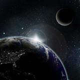 Fototapety Sun rise on planet earth