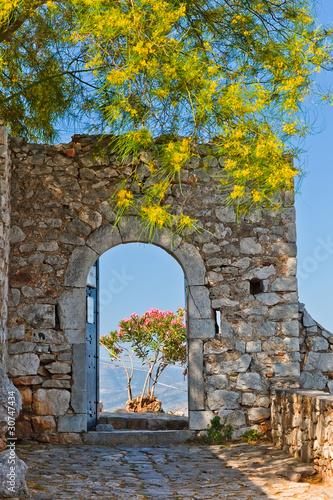 Fototapeta Gate in Palamidi fortress, Nafplio, Greece