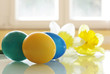 Painted Easter Eggs and Daffodils