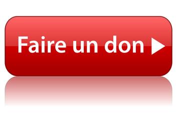 """Bouton Web """"FAIRE UN DON"""" (donner argent contribution aide)"""