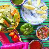 tequila salt lemon mexican chili sauces pepper