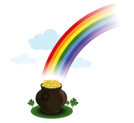 Pot of gold under the rainbow