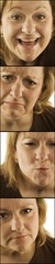 4 Images Of Woman With Varying Faces