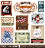 Etikety Vintage - Set 3