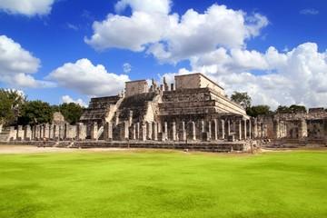 Chichen Itza Warriors Temple Los guerreros Mexico