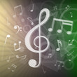 modern music notes background