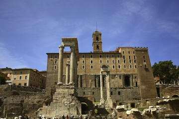 Roma, Fori di Vespasiano, tempio di Saturno