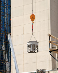 Cement Bucket on Construction Site