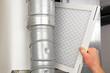 Leinwandbild Motiv Home Air Filter Replacement