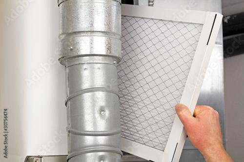 Leinwanddruck Bild Home Air Filter Replacement