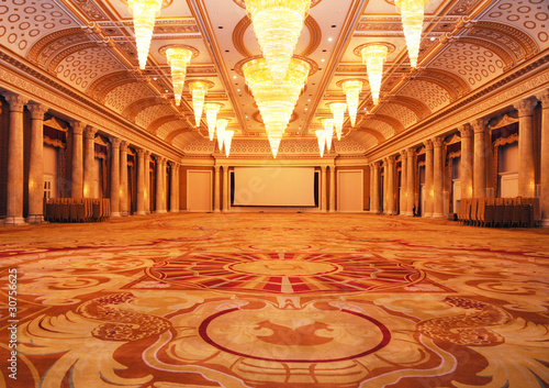 Grand luxurious hotel hall
