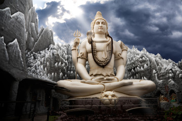 Big Lord Shiva statue in Bangalore