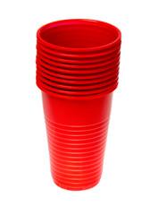 red plastic glass
