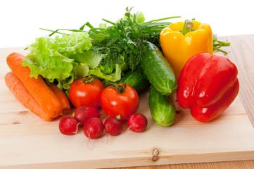Fresh vegetables .