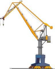 big shipyard crane