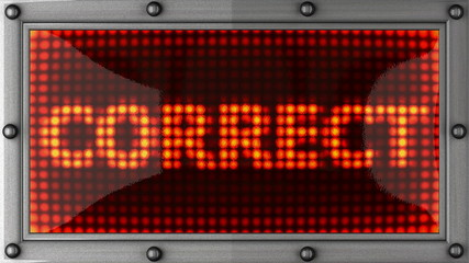 correct announcement on the LED display