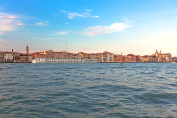 Seaview of Venice at sunset.
