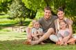 Lovely family in the park