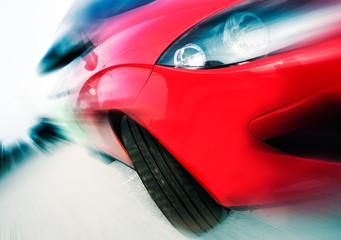 concepto de velocidad con coche