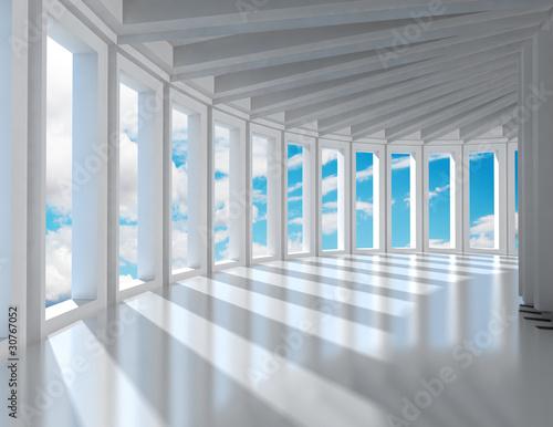 arquitectura moderna y cielo