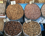 variety of dried nuts  at the central market