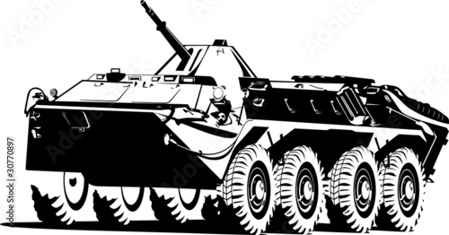 armored troop-carrier.
