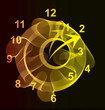 Abstract light background with dial. Vector Illustration