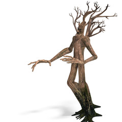 The Ent - Keeper of the forest. 3D rendering with clipping path