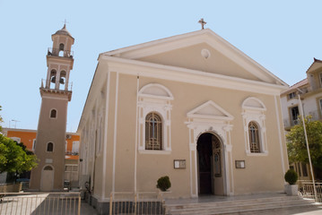 Church in Argostoli on island of  Kephalonia in Greece